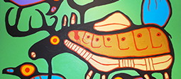 Down To Earth Art Gallery - Norval Morrisseau Moose Harmony