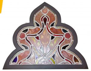 Down To Earth Art Gallery - Custom Shape Frame, stained glass